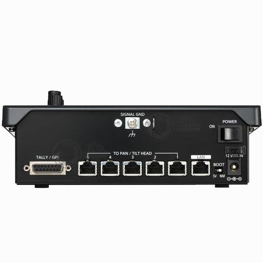 Panasonic AW-RP50 compact PTZ camera controller achterzijde