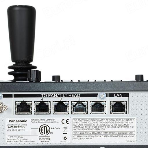 Panasonic AW-RP120 close up rear