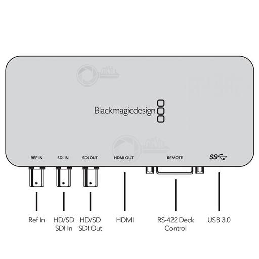 BMD Ultra Studio SDI aansluitingen