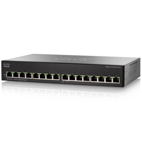 Unmanaged 16-port Cisco Switch SG110-16 links voor