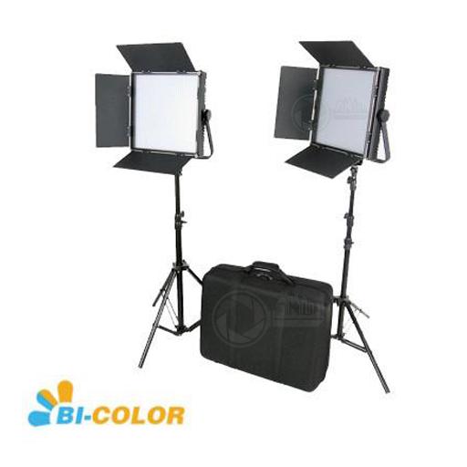 Lichtset LED Bicolor met statief en koffer